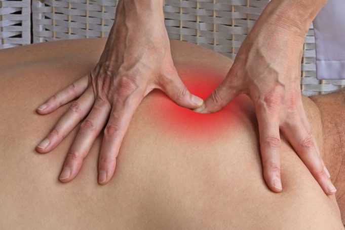 Deep tissue massage to Rhomboids