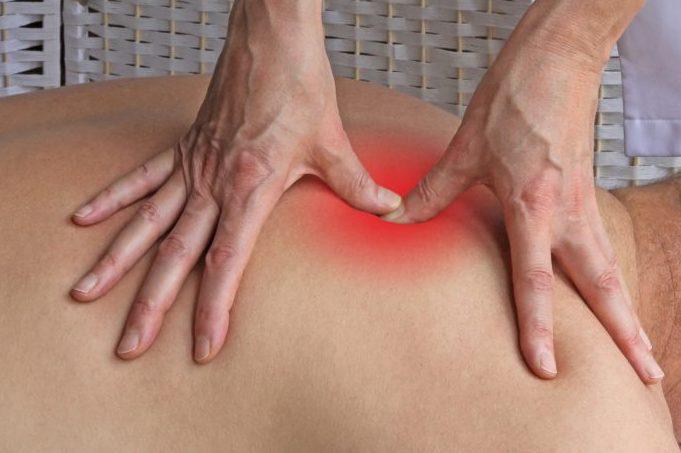 Deep tissue massage to Rhomboids